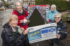 Superfast Knitters 'Yarn-Bomb' Digital Scotland