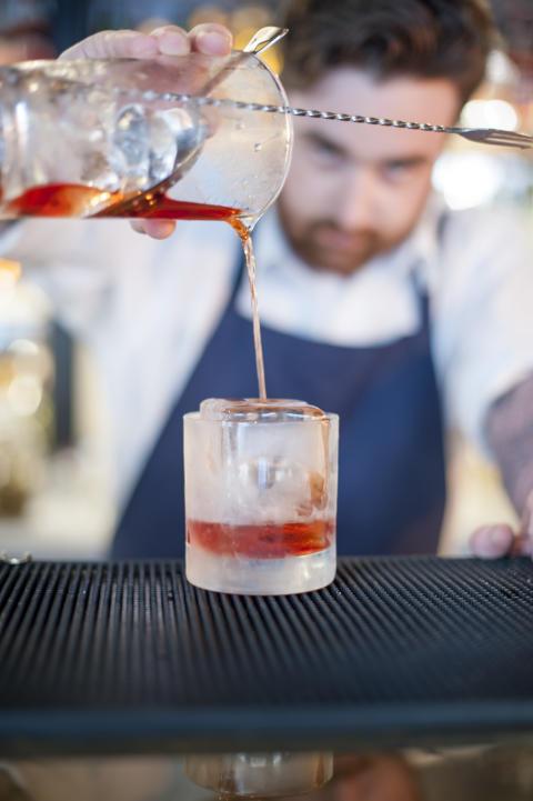 Drink med sågad is