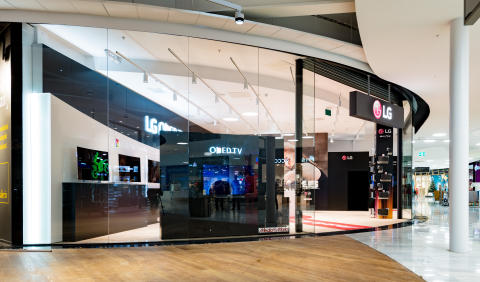 LG:s konceptbutik i Mall of Scandinavia