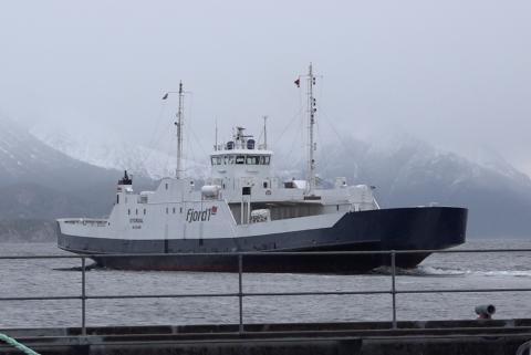 Ferje ved Seivika i Kristiansund