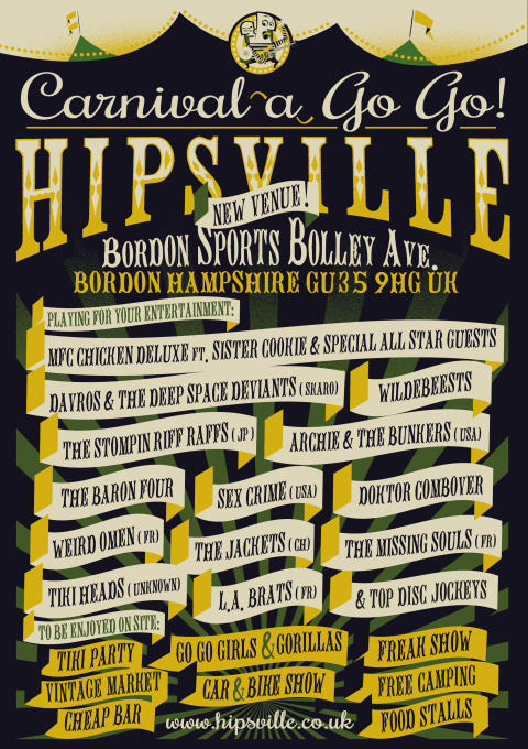 HIPSVILLE Carnival A Go Go! The Wildest '60s & Beyond Party Festival Weekend - May 13th -15th!