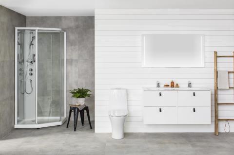 Viisikulmainen Showerama 10-5 -suihkukaappi