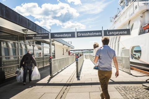 Rekordmange passasjerer på øybåtene i juli