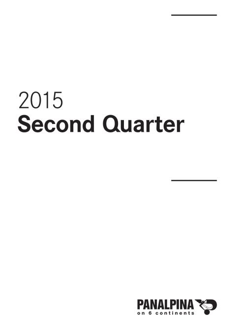 Half-Year Results 2015 – Consolidated Financial Statements