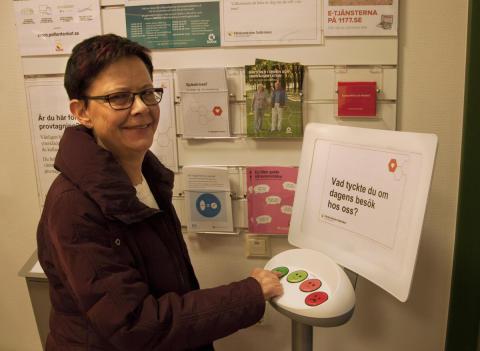 Patienter värderar vården med en knapptryckning