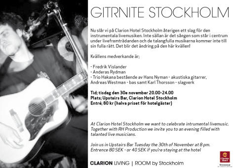GitRNite Stockholm i Clarion Living Room