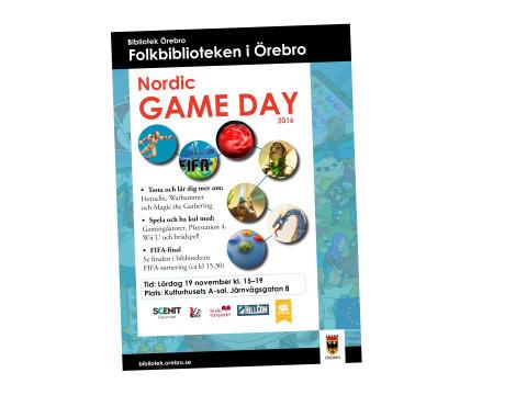 Örebro stadsbibliotek firar Nordic Game Day 2016