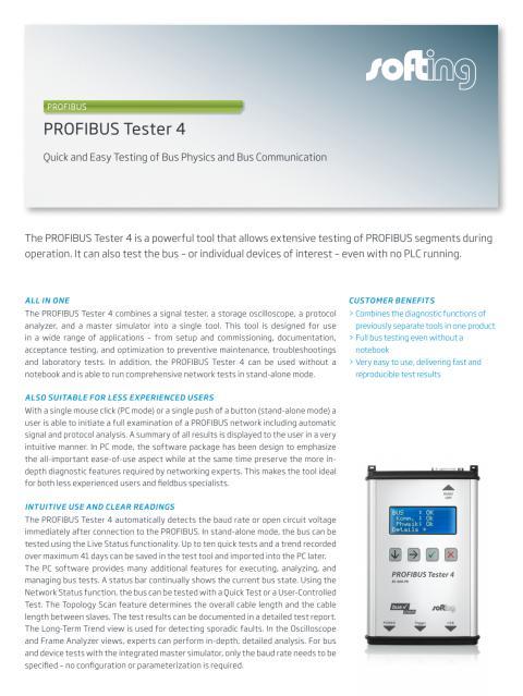 PROFIBUS Tester4