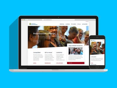 Kodamera levererar Svenska Lottakårens nya webb