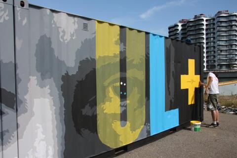Atma og Sadolin på Kulturhavn - sidste touch