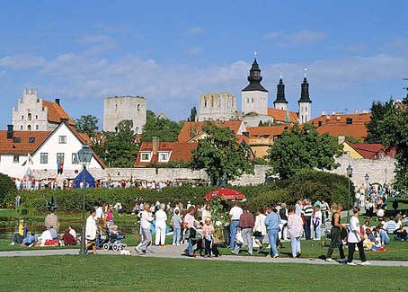 BIld på Almedalen i Visby - den politiska veckan första veckan i juli