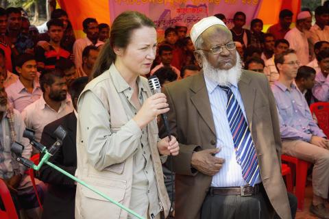 Ulrika Årehed Kågström i Bangladesh