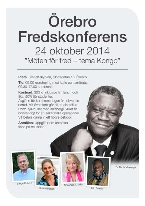 Örebro Fredskonferens: Programblad 2014