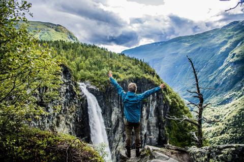 Водопад Веттисфоссен, Норвегия