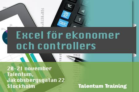 Kurs: Excel för ekonomer och controllers