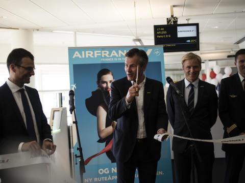 Flott start på Air France sin nye direkterute til Paris