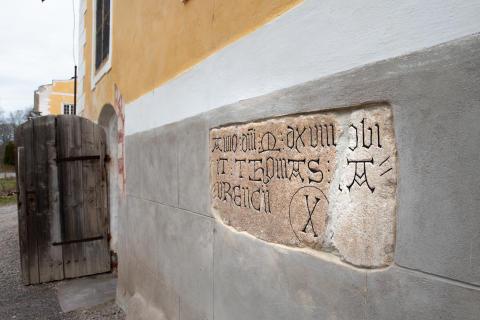 Gravsten över Tomas Laurencii, död 1518