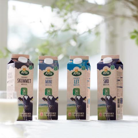 Danskernes foretrukne mælk kommer nu udelukkende fra køer på græs