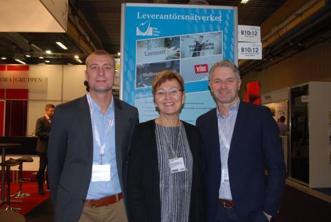 Tre företrädare för leverantörsnätverket High Voltage Valley, Joakim Sundberg, Kathrine Abrahamsen och Roger Karlsson.