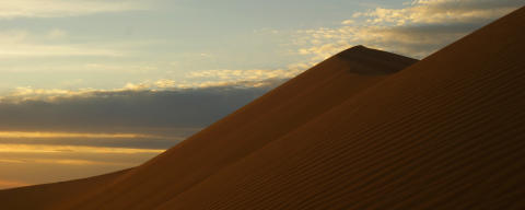 Sunset behind the Golden Dunes