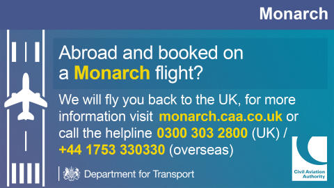 Monarch Airlines has ceased trading