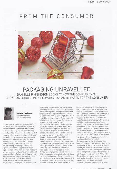 FMCG News January 2016. Packaging Unravelled