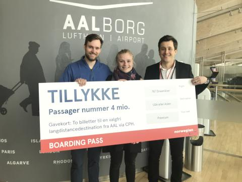 Norwegian runder 4 millioner passagerer mellem Aalborg og København