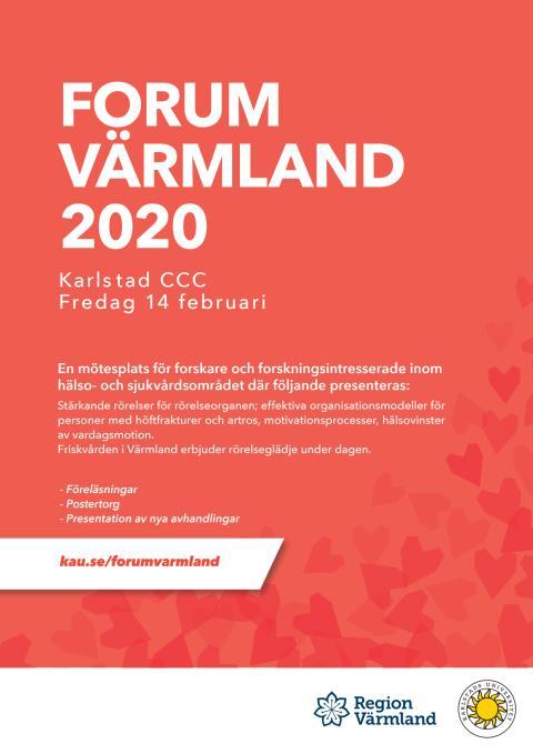 Program Forum Värmland 2020