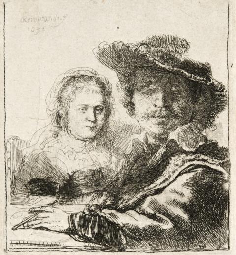 Rembrandt van Rijn, Rembrandt och hans fru Saskia, 1636