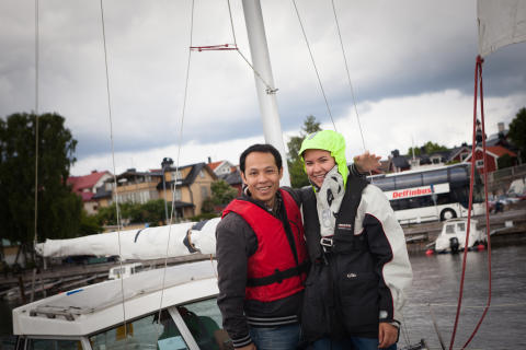 """Bilden tagen från en av sommarens båtturer under """"Integrationssegling"""""""