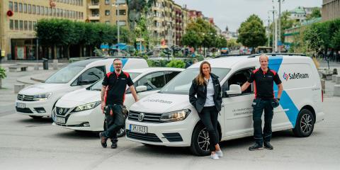 Alla bilar hos SafeTeam blir el- eller gasbilar