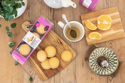 Nyhet! Sockerfria Apelsinkakor