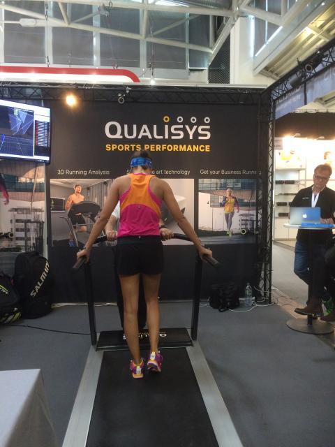 A runner at the treadmill at ISPO