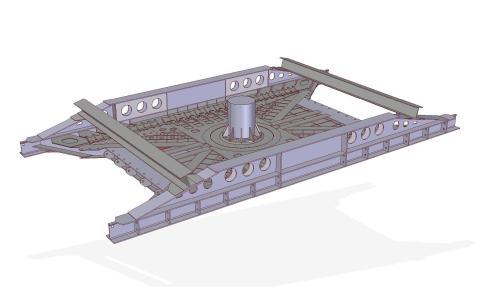 Custom-built: steel main frame for air transport