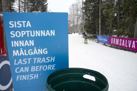 Time penalty for littering in the Vasaloppet Arena