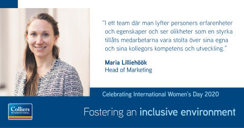 Colliers uppmärksammar Internationella kvinnodagen under #EachforEqual