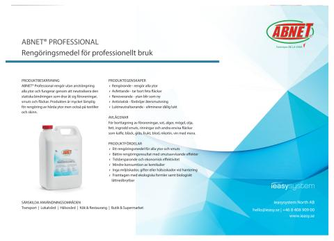 ABNET® Professional produktblad