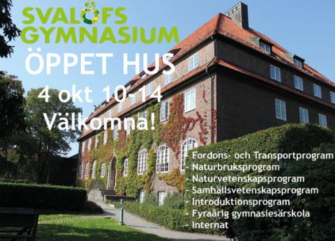 Öppet Hus på Svalövs Gymnasium!