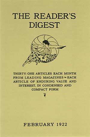 Vor 95 Jahren erschien die erste Ausgabe der Zeitschrift Reader's Digest