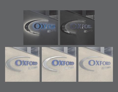 Nattmonterad fasadskylt – Oxford Research AB