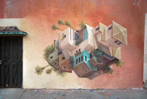 ​The illusionistic art by Cinta Vidal to No Limit Street Art