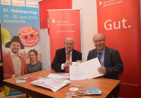 Sparkasse Mittelthüringen Premiumsponsor des Thüringentages 2019