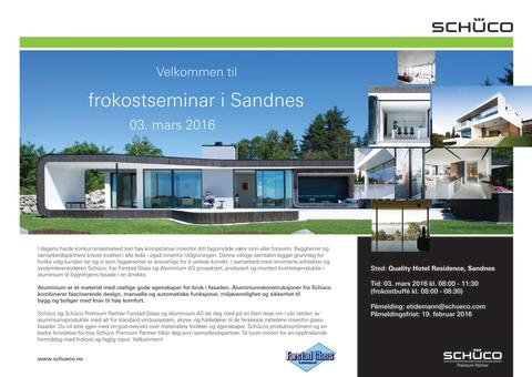 Reminder! Velkommen til gratis frokostseminar på Sandnes