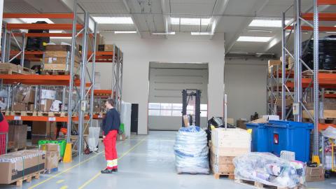 Logistikcenter taget i brug