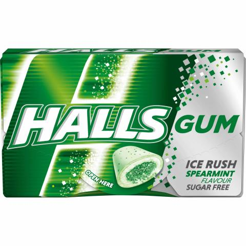 Gumy Halls Spearmint