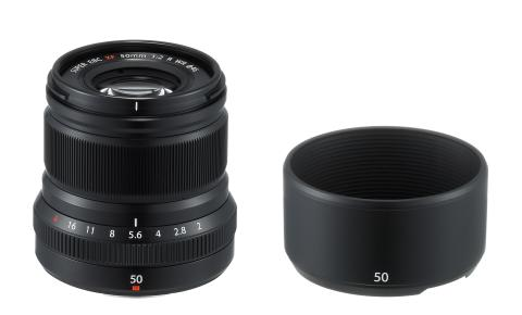 XF50mmF2 R WR Black with Lens Hood