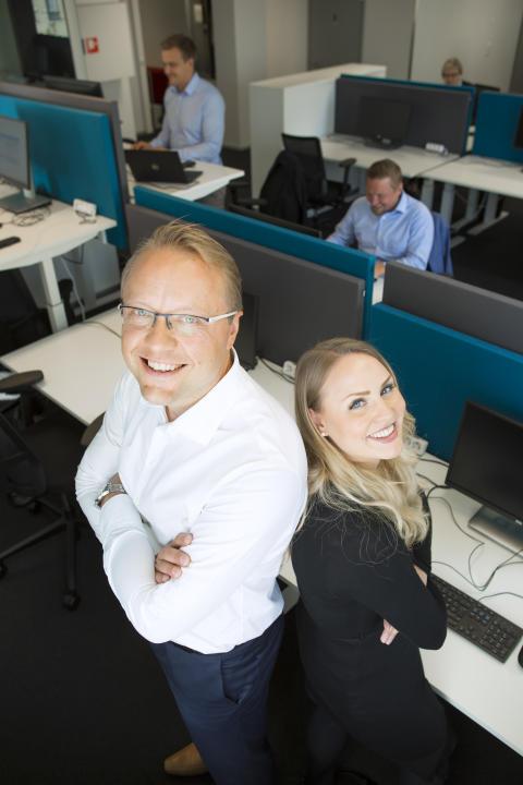 Eteran Työkykypalkintofinalisti 2017: KPMG Oy Ab, aluejohtaja Risto Heinänen ja Sales Senior Pauliina Koivisto