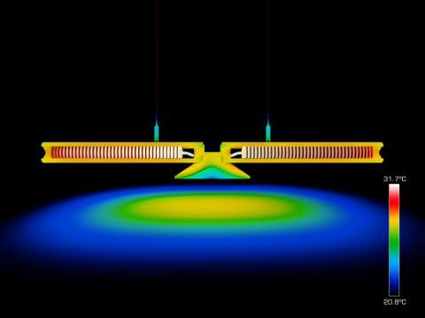 Cu-Beam™ suspended lights - Lyser i mer än 37 år. Bild 2.