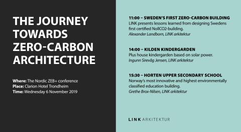 LINK arkitektur på Nordic ZEB 2019