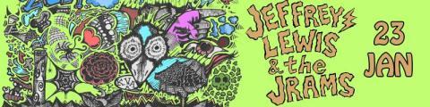 Jeffrey Lewis & The Jrams [US] har turnépremiär på Moriskan 23/1